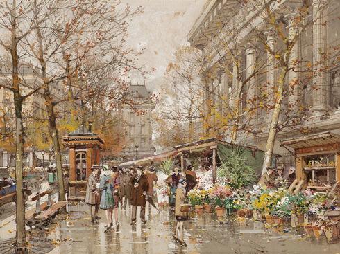 Marché aux Fleurs près de la Madeleine, Paris