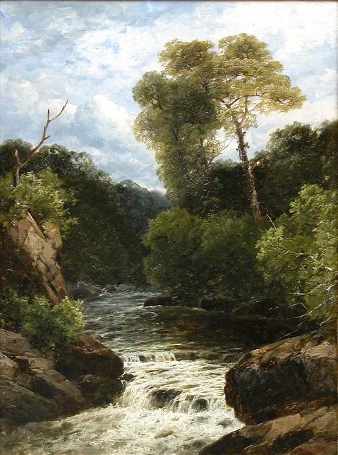 'A Quiet Spot on the Dee, N. Wales'