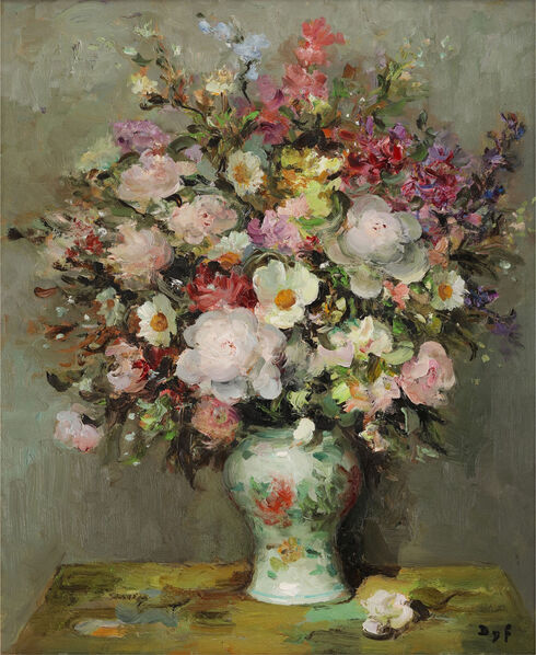 'Peonies and Godetias'